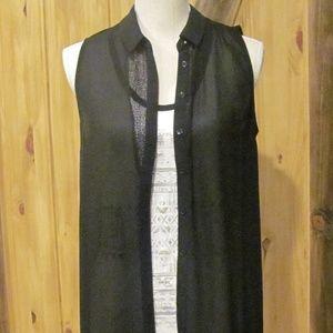 Lush Long Chiffon Vest